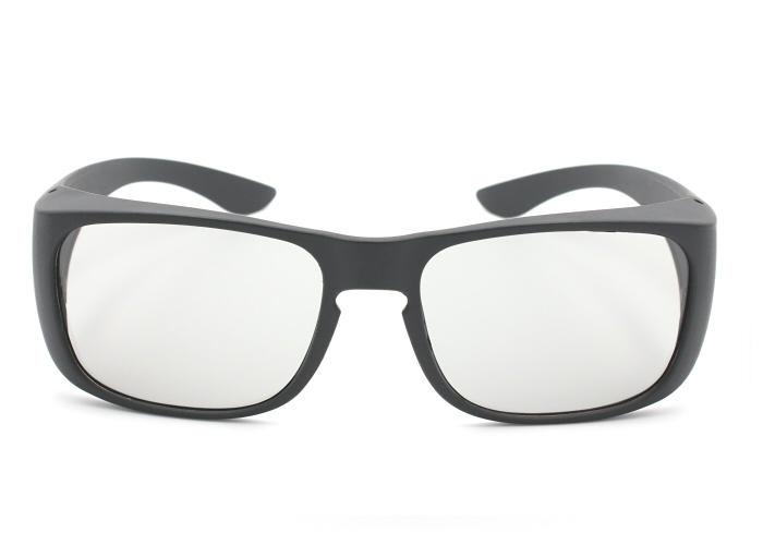 3D Brille mit großem Rahmen