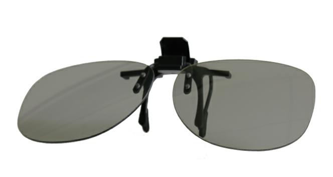 Metall-3D-Brille zum Aufstecken